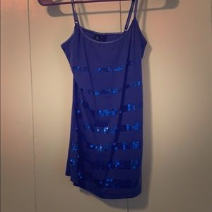 Blue and sequin camisole